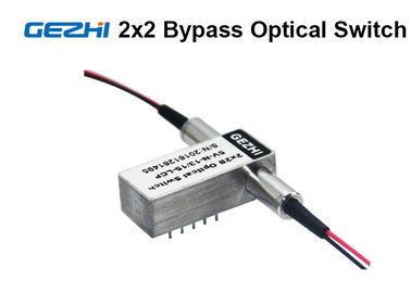 China 2x2 Bypass Mechanical Fiber Optic Switch 1310 / 1550nm Latching OXC system supplier