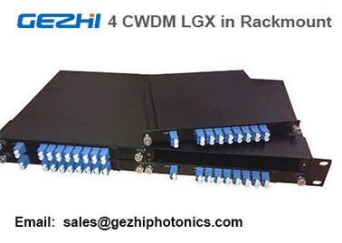 "China Passive CWDM Mux Demux 8CH Module by 4pcs LGX Box in one 19"" 1U Rackmount supplier"