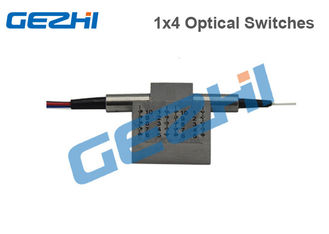 China Mechanical Optical Switches Single Mode / Multimode 1×4 Customized Connector supplier