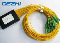 China LAN / WAN Mini Module Fiber Optic PLC Splitter blockless 0.9mm with SC / UPC Connector factory