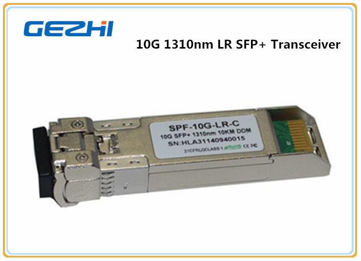 10km LR DDM 10G SFP+ Transceiver , LC optical fiber transceiver