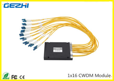 China 1x16CH CWDM Mux Demux Module 1260~1620nm LC connecter Multiple wavelengths to choose distributor