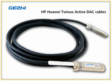 China HP Huawei 10G SFP+ Copper Twinax Active DAC cables , SFP+ to SFP+ TWINAX distributor