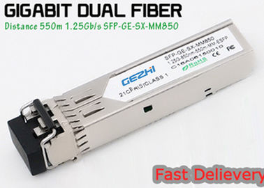 China 1.25G 850nm Fp 550m Lc Mmf Small Form Factor Pluggable Transceiver Fcc Compliant Sfp distributor