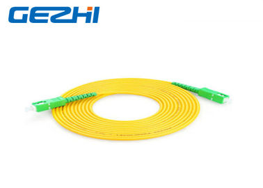 China Indoor Patch Cord Accessories GJXFH G657A2 LSZH SC / APC - SC / APC Polishing factory