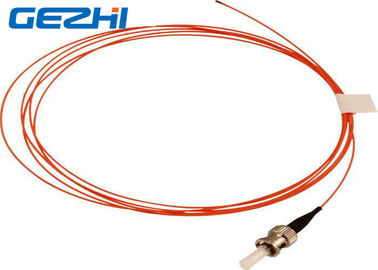 China Orange OM2 Fiber Optic Patch Cord Accessories ST MM SX 50 / 125um 2 Meters 900um Pigtail distributor