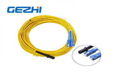 China LC / APC Patch Cord MT - RJ to SC Singlmode Duplex Zipcord Without Clip Yellow factory