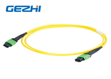 China Single Mode 12 Fiber Patch Cord Accessories , MTP MPO Patch Cord Truck Cable Jumper factory