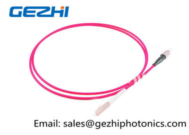 China LC / PC - FC / PC Optic Patch Cord Jumper OM4 50/125um Multimode LSZH 2M Pink Jacket factory