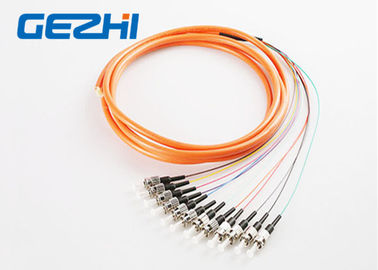 China Waterproof FC / PC Fiber Bundle Pigtail MM 50 / 125um Multimode OS1 SM MM OM1 distributor
