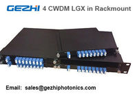 "Passive CWDM Mux Demux 8CH Module by 4pcs LGX Box in one 19"" 1U Rackmount"