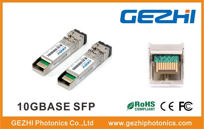 LC Dual Connector Optical Transceiver 10GBase-ZR 80km Distance Allied Telesis Compatible